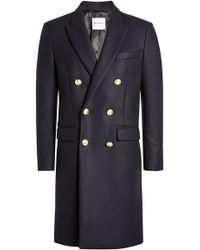 Palm Angels - Embroidered Coat With Wool And Cashmere - Lyst