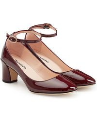 Repetto | Patent Leather Court Shoes With Ankle Strap | Lyst