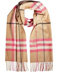Burberry - Printed Cashmere Scarf - Lyst
