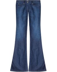 Just Cavalli - Flared Jeans With Embroidered Pockets - Lyst