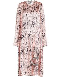 Shrimps - Heather Printed Silk Dress - Lyst