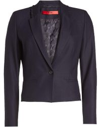 HUGO | Blazer With Ruffled Trim | Lyst