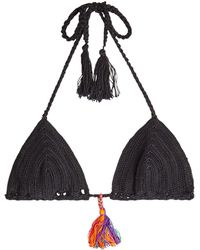 Anna Kosturova - Crochet Bikini Bottoms With Tassels - Lyst