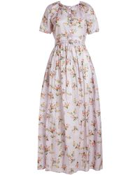 Brock Collection - Dean Floral Printed Cotton Dress - Lyst
