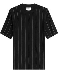DKNY - Striped Merino Wool Top - Lyst