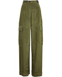 Sonia Rykiel - Pinstriped Wide Leg Satin Pants - Lyst