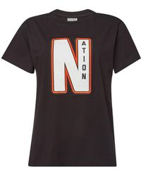 fc3e7d467d729 P.E Nation - The Distance Cotton T-shirt With Embroidery - Lyst