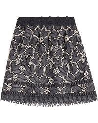 Anna Sui - Lace Appliqué Mini Skirt - Lyst
