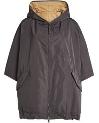 Brunello Cucinelli - Hooded Coat With Silk - Lyst