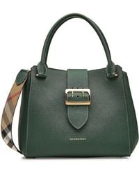 Burberry - Medium Leather Tote With Buckle Detail - Lyst