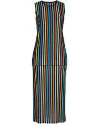Diane von Furstenberg - Layered Knit Dress With Cotton - Lyst