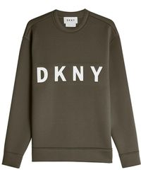 DKNY - Printed Cotton Sweatshirt - Lyst