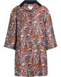 Mary Katrantzou - Embroidered Coat With Silk - Lyst