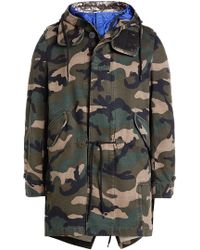 Valentino - Tech Hood Camouflage Cotton Parka - Lyst