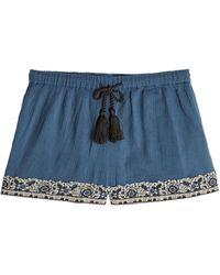 Christophe Sauvat - Embellished Cotton Shorts - Lyst