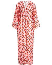 Borgo De Nor - Tie Front Printed Dress - Lyst