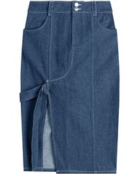 Sandy Liang - Denim Skirt With Cut-out Front - Lyst