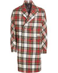 Stella McCartney - Tartan Wool Coat - Lyst