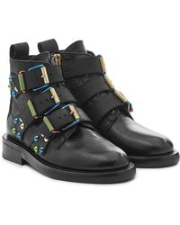 Zadig & Voltaire - Laureen Embellished Leather Ankle Boots - Lyst