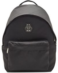 Philipp Plein - Fabric Backpack With Leather - Lyst