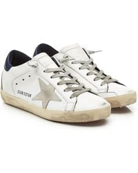 Golden Goose Deluxe Brand - Super Star Leather Trainers - Lyst