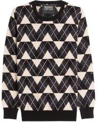 Markus Lupfer - Beaded Intarsia-knit Merino Wool Sweater - Lyst