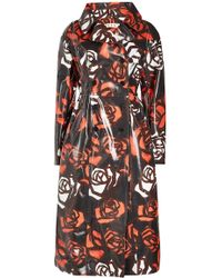 Marni - Printed Leather Coat - Lyst