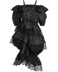 Simone Rocha - Seidenkleid mit Spitze und Volants - Lyst