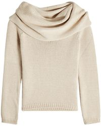 Rosetta Getty - Off-shoulder Pullover With Wool - Lyst