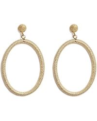 Carolina Bucci - 18k Gold Gitane Sparkly Oval Earrings - Lyst