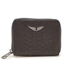 Zadig & Voltaire - Mini Savage Leather Wallet - Lyst