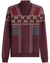 Peter Pilotto - Patterned Knit Mock Neck Pullover - Lyst