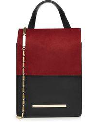 Roland Mouret | Leather And Suede Shoulder Bag | Lyst