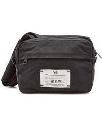 Lyst - Y-3  qasa  Messenger Bag in Black for Men 8a5d45177da57