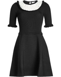RED Valentino - Dress With Lace - Lyst