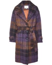Lala Berlin - Janne Printed Coat With Wool, Mohair And Alpaca - Lyst