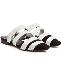 Neous - Gomesa Slip-on Sandals In Leather And Suede - Lyst
