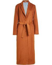 Mes Demoiselles - Maxi Coat With Wool - Lyst