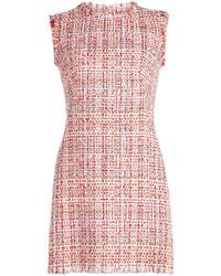 Alexander McQueen - Tweed Mini Dress - Lyst