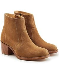 A.P.C. | Suede Ankle Boots | Lyst