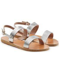 Ancient Greek Sandals - Clio Metallic Leather Sandals - Lyst