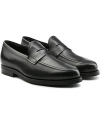 Tod's - Leather Loafers With Shearling - Lyst