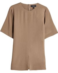 Theory - Short-sleeve Top With Slit - Lyst
