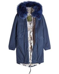 Mr & Mrs Italy - Cotton Parka With Fur-trimmed Hood And Lining - Lyst