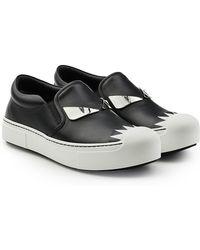 f3096b02673c6 Lyst - Fendi  ffast  Embellished Slip-on Sneaker in Black