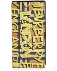Burberry - Cavendish Printed Leather Wallet - Lyst