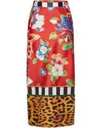 Stella Jean Printed Pencil Skirt