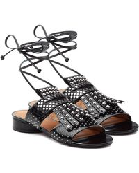 82b839dd00e7 Robert Clergerie - Embellished Leather Sandals - Lyst