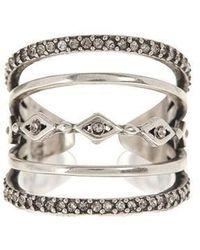 Luv Aj - Evil Eye Stacked Ring In Silver - Lyst
