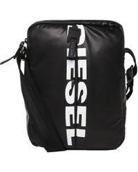 DIESEL - Black F Bold Small Cross Body Bag - Lyst
